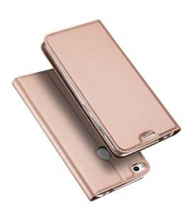 """Rausvai auksinės spalvos atverčiamas dėklas Huawei P10 telefonui """"Dux Ducis Skin"""""""