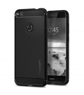 """Juodas dėklas Huawei P8/P9 Lite 2017 telefonui """"Spigen Rugged Armor"""""""