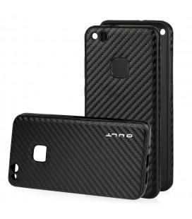 """Juodas CARBON dėklas Huawei P10 Lite telefonui """"Qult Carbon"""""""