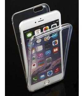 "Skaidrus silikoninis dėklas Apple iPhone 6 Plus/6s Plus telefonui ""Fitty Double"""