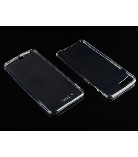 "Skaidrus silikoninis dėklas Apple iPhone 7 Plus telefonui ""Fitty Double"""