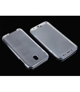 """Skaidrus silikoninis dėklas Samsung Galaxy J7 2017 telefonui """"Fitty Double"""""""