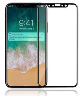 Lenktas juodas apsauginis grūdintas stiklas Apple iPhone 8 telefonui