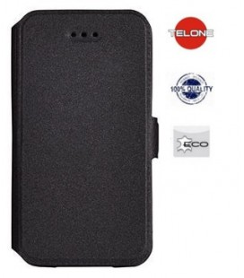 """Juodas atverčiamas dėklas Sony Xperia L1 telefonui """"Telone Book Pocket"""""""