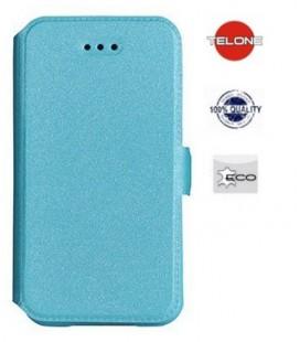"""Mėlynas atverčiamas dėklas Huawei P10 Lite telefonui """"Telone Book Pocket"""""""
