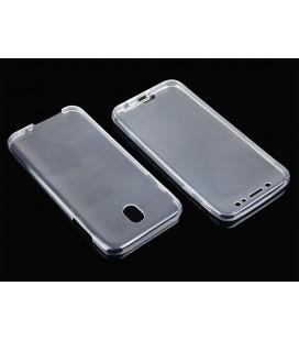"""Skaidrus silikoninis dėklas Samsung Galaxy J5 2017 telefonui """"Fitty Double"""""""