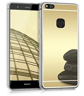 """Auksinės spalvos silikoninis dėklas Huawei P10 Lite telefonui """"Mirror"""""""