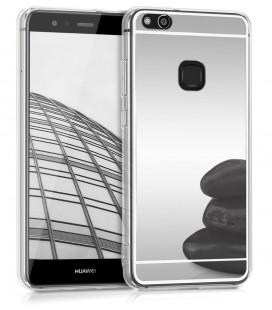 """Sidabrinės spalvos silikoninis dėklas Huawei P10 Lite telefonui """"Mirror"""""""