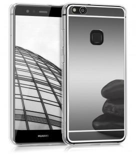 """Juodas silikoninis dėklas Huawei P10 Lite telefonui """"Mirror"""""""