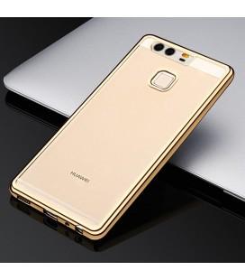 """Auksinės spalvos silikoninis dėklas Huawei Honor 8 telefonui """"Glossy"""""""