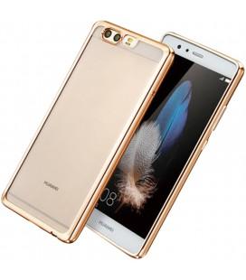 """Auksinės spalvos silikoninis dėklas Huawei P10 telefonui """"Glossy"""""""