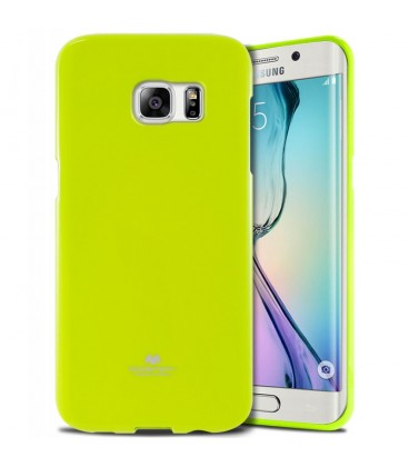 """Žalias dėklas Mercury Goospery """"Jelly Case"""" Samsung Galaxy S6 Edge G925 telefonui"""
