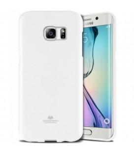 """Baltas dėklas Mercury Goospery """"Jelly Case"""" Samsung Galaxy S6 Edge G925 telefonui"""