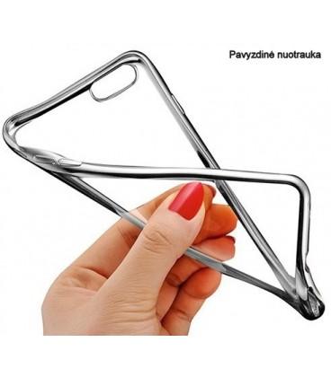 """Juodas silikoninis dėklas Samsung Galaxy J5 2017 telefonui """"Glossy"""""""