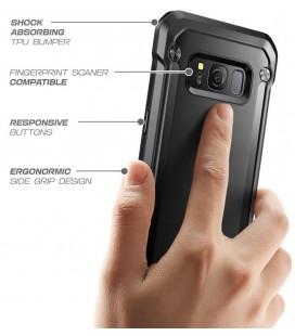 """Sidabrinės spalvos silikoninis dėklas Samsung Galaxy A3 2017 Telefonui """"Glossy"""""""