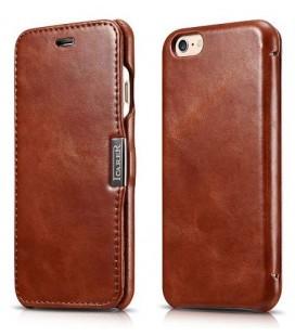 """Rudas odinis atverčiamas dėklas Apple iPhone 6/6s telefonui """"iCarer Vintage"""""""