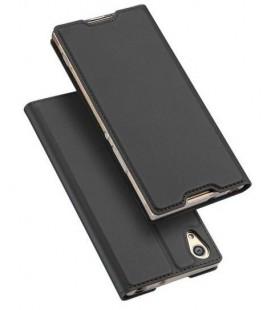"""Juodas atverčiamas dėklas Sony Xperia XA1 telefonui """"Dux Ducis Skin"""""""