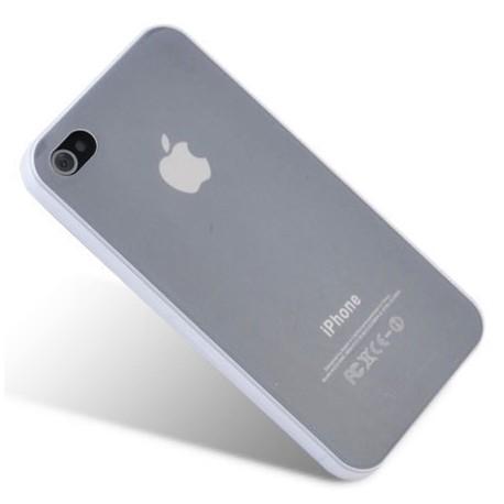 Skaidrus plonas 0,3mm silikoninis dėkla Apple iPhone 4/4s telefonui