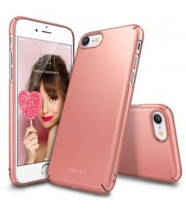 """Rausvai auksinės spalvos dėklas Apple iPhone 7/8 telefonui """"Ringke Slim"""""""