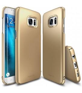 """Auksinės spalvos dėklas Samsung Galaxy S7 Edge telefonui """"Ringke Slim"""""""