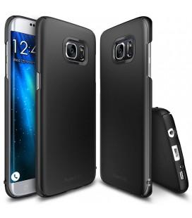 """Juodas dėklas Samsung Galaxy S7 Edge telefonui """"Ringke Slim"""""""