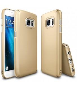 """Auksinės spalvos dėklas Samsung Galaxy S7 telefonui """"Ringke Slim"""""""