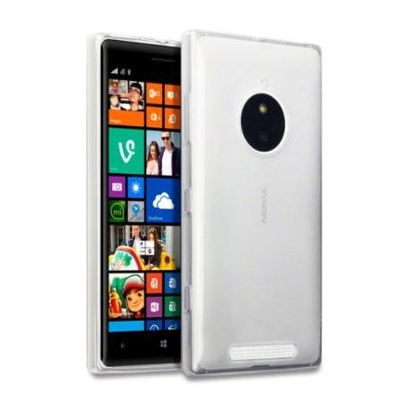 Skaidrus plonas 0,3mm silikoninis dėklas Nokia Lumia 830 telefonui