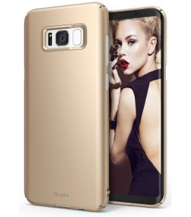 """Auksinės spalvos dėklas Samsung Galaxy S8 telefonui """"Ringke Slim"""""""