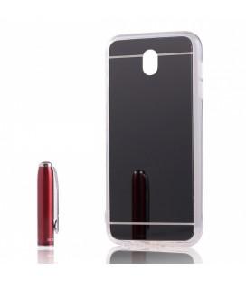 """Juodas silikoninis dėklas Samsung Galaxy J7 2017 telefonui """"Mirror"""""""