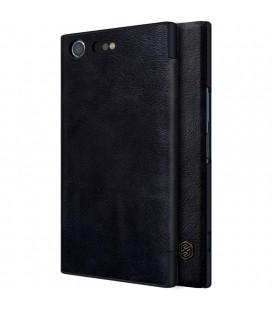 """Odinis juodas atverčiamas dėklas Sony Xperia XZ Premium telefonui """"Nillkin Qin"""""""