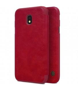"""Odinis raudonas atverčiamas dėklas Samsung Galaxy J3 2017 telefonui """"Nillkin Qin"""""""