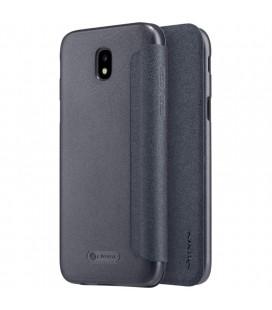 """Atverčiamas juodas dėklas Samsung Galaxy J7 2017 telefonui """"Nillkin Sparkle"""""""