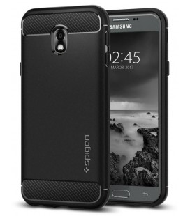 """Juodas dėklas Samsung Galaxy J3 2017 telefonui """"Spigen Rugged Armor"""""""