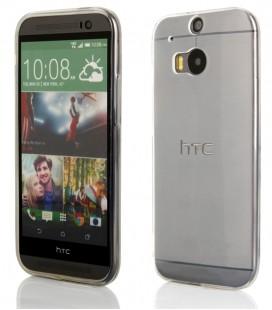 """Skaidrus silikoninis dėklas HTC One M8 telefonui """"Clear"""""""