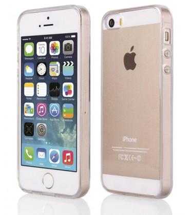 """Skaidrus silikoninis dėklas Apple iPhone 5/5s/SE telefonui """"Clear"""""""
