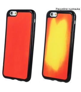 """Raudonas - geltonas dėklas Apple iPhone 6/6s telefonui """"TPU Termo"""""""