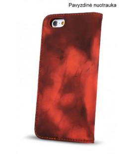 """Juodas - raudonas atverčiamas dėklas Apple iPhone 6/6s telefonui """"Smart Termo"""""""