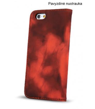 """Juodas raudonas atverčiamas dėklas Apple iPhone 6/6s telefonui """"Smart Termo"""""""