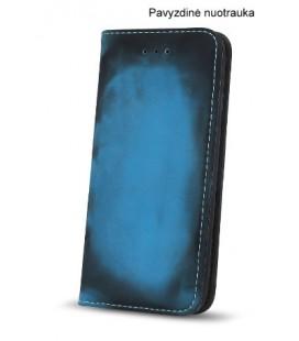 """Juodas - mėlynas atverčiamas dėklas Samsung Galaxy S8 telefonui """"Smart Termo"""""""