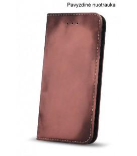 """Juodas - rožinis atverčiamas dėklas Huawei P8/P9 Lite 2017 telefonui """"Smart Termo"""""""