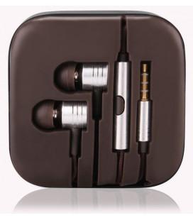 """Sidabrinės spalvos stereo ausinės """"3.5mm """"Metallic Earphones"""""""