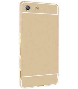 """Auksinės spalvos silikoninis dėklas Sony Xperia M5 telefonui """"Mirror"""""""