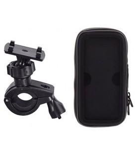 Universalus juodas dviračio dėklas telefonui - krepšys (L)