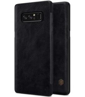 """Odinis juodas atverčiamas dėklas Samsung Galaxy Note 8 telefonui """"Nillkin Qin"""""""