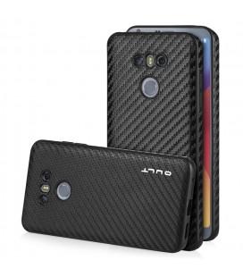 """Juodas CARBON dėklas LG G6 telefonui """"Qult Carbon"""""""