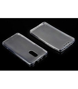 "Skaidrus silikoninis dėklas Xiaomi Redmi Note 4/4x telefonui ""Fitty Double"""
