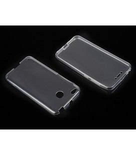 "Skaidrus silikoninis dėklas Xiaomi Redmi 4x telefonui ""Fitty Double"""