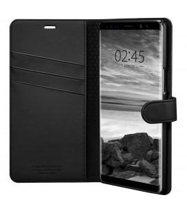 """Juodas atverčiamas dėklas Samsung Galaxy Note 8 telefonui """"Spigen Wallet S"""""""