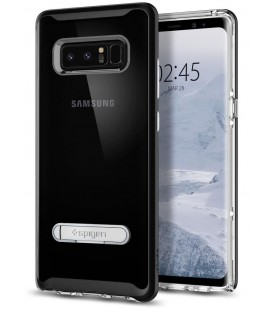 "Juodas dėklas Samsung Galaxy Note 8 telefonui ""Spigen Crystal Hybrid"""