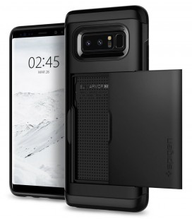 """Juodas dėklas Samsung Galaxy Note 8 telefonui """"Spigen Slim Armor CS"""""""